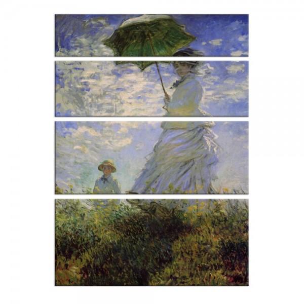 Leinwandbild - Claude Monet - Frau mit Sonnenschirm
