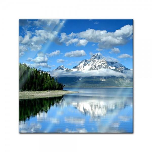 Glasbild - Berglandschaft am Lake Jackson - Texas USA