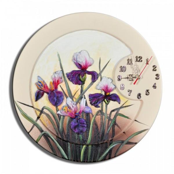 Wanduhr Blumen K 03