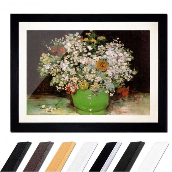 Vincent van Gogh - Vase mit Zinnias und anderen Blumen