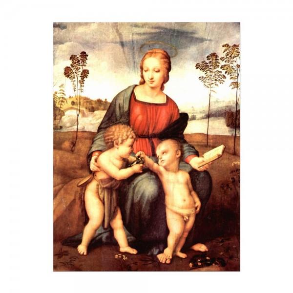 Leinwandbild - Raffael - Madonna del cardellino