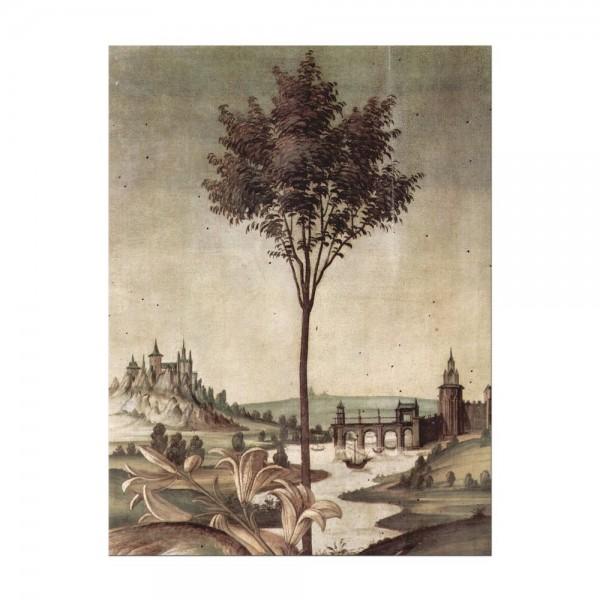 Leinwandbild - Sandro Botticelli - Landschaft - Detail Verkündigung