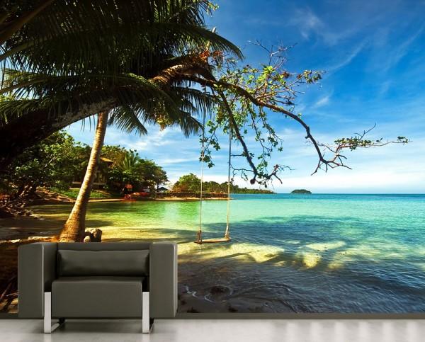 Fototapete - Tropical beach under blue sky - Thailand