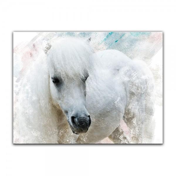 Leinwandbild - Aquarell - Pferd