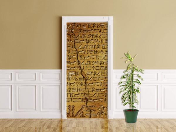 Türaufkleber - Hieroglyphen