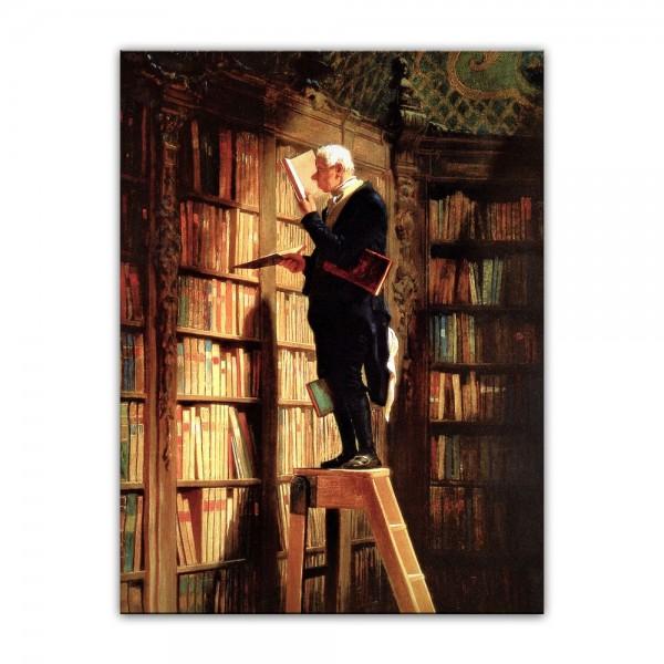 Leinwandbild - Carl Spitzweg - Der Bücherwurm