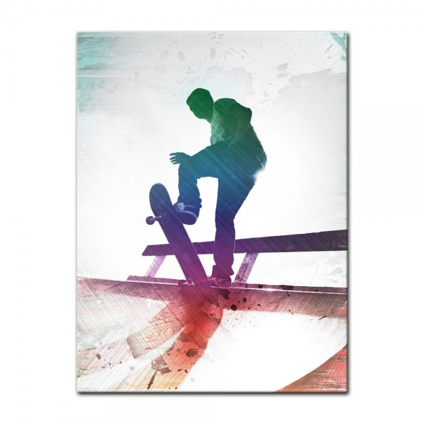 Leinwandbild - Grungy Skateboarder