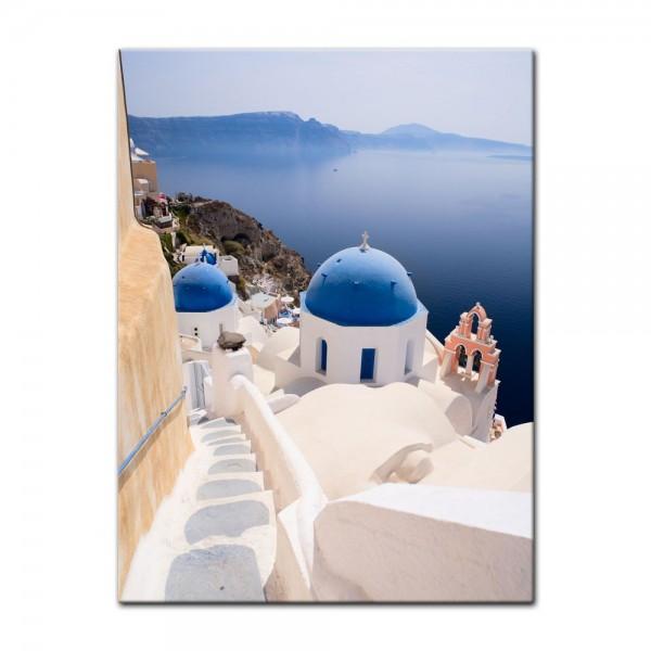 Leinwandbild - Santorini Blick