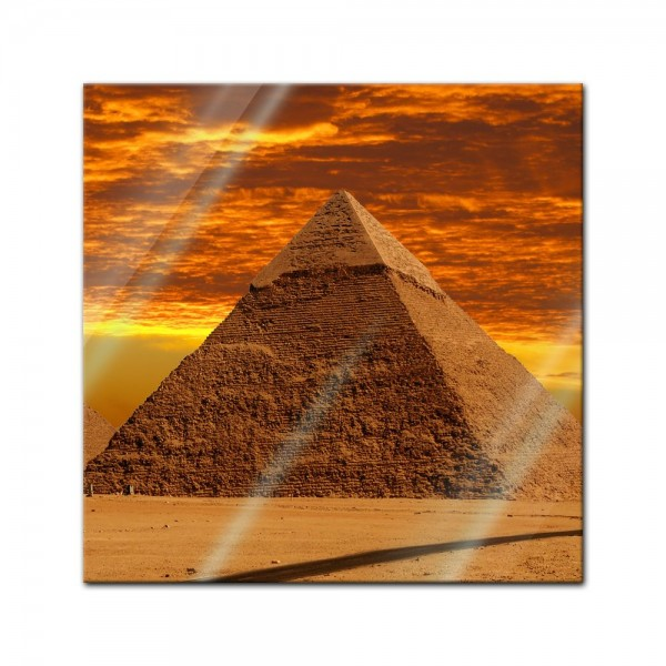Glasbild - Cheops Pyramide - Gizeh in Ägypten