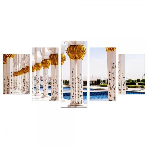 Leinwandbild - Weiße Moschee in Abu Dhabi