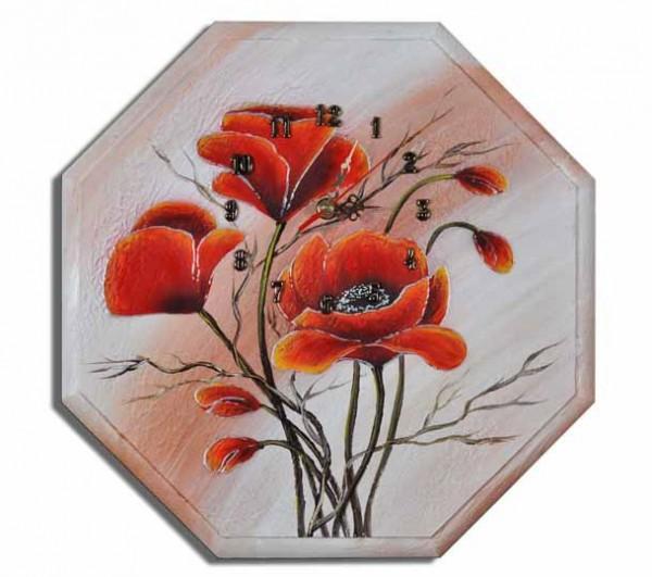 Wanduhr - Blumen M3