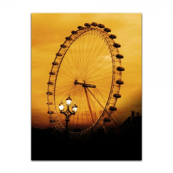 Leinwandbild - London Eye