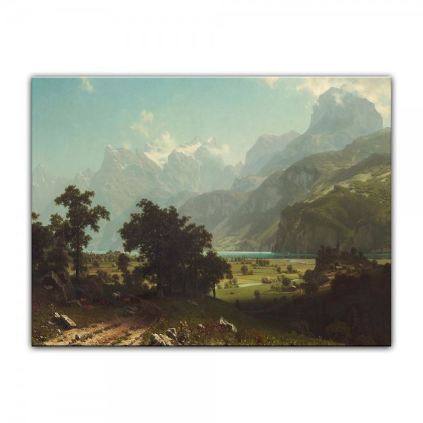 Leinwandbild - Albert Bierstadt - Lake Lucerne