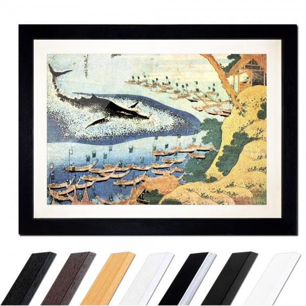 Katsushika Hokusai - Walfang vor den Goto-Inseln