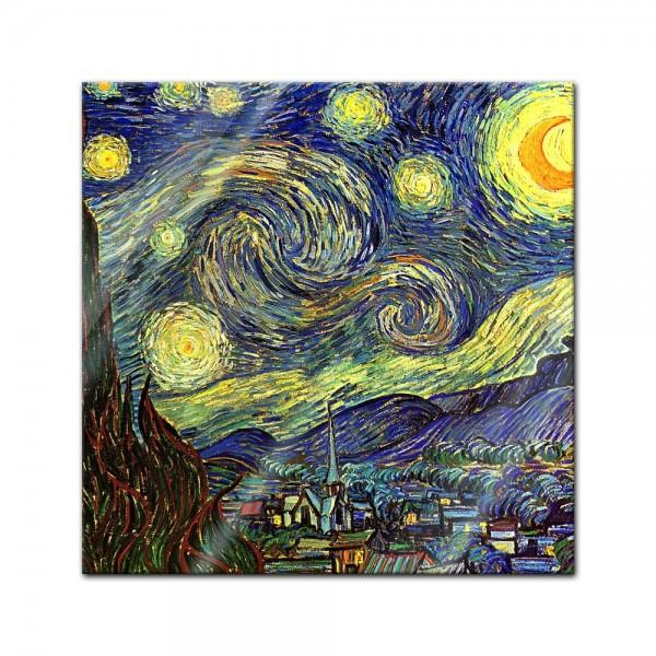 Glasbild Vincent van Gogh - Alte Meister - Sternennacht
