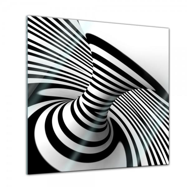 Glasbild - Spirale im Hintergrund