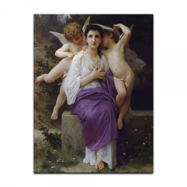 Leinwandbild - William-Adolphe Bouguereau - Das erwachende Herz