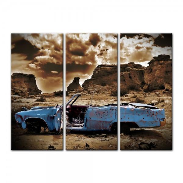 Leinwandbild - Cadillac - blau sepia