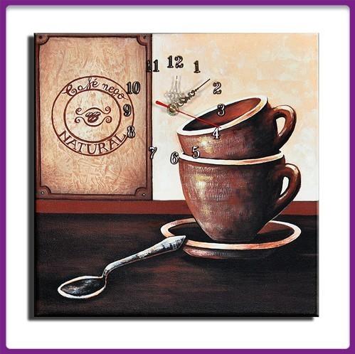 Wanduhr Leinwand Cafe Nego D 04