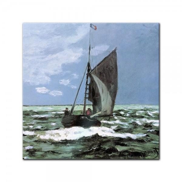 Glasbild Claude Monet - Alte Meister - Stürmische See