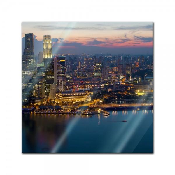 Glasbild - Singapur