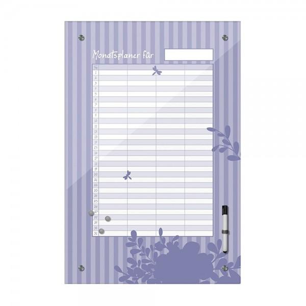 Memoboard - Monatsplaner - violett