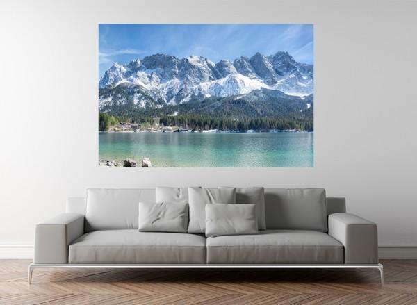 Fototapete - Zugspitzmassiv in den Alpen