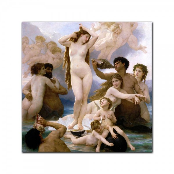 Leinwandbild - William-Adolphe Bouguereau - Geburt der Venus