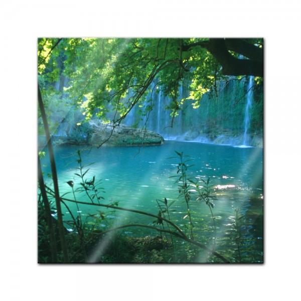 Glasbild - Kursunlu Wasserfälle - Türkei