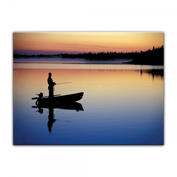 Leinwandbild - Angler in Norwegen