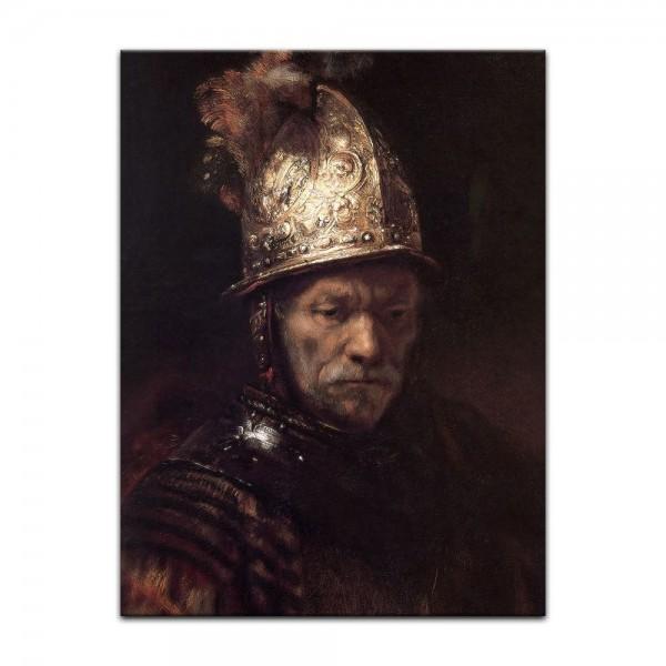 Leinwandbild - Rembrandt - Der Mann mit dem Goldhelm