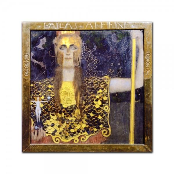 Leinwandbild - Gustav Klimt - Pallas Athene