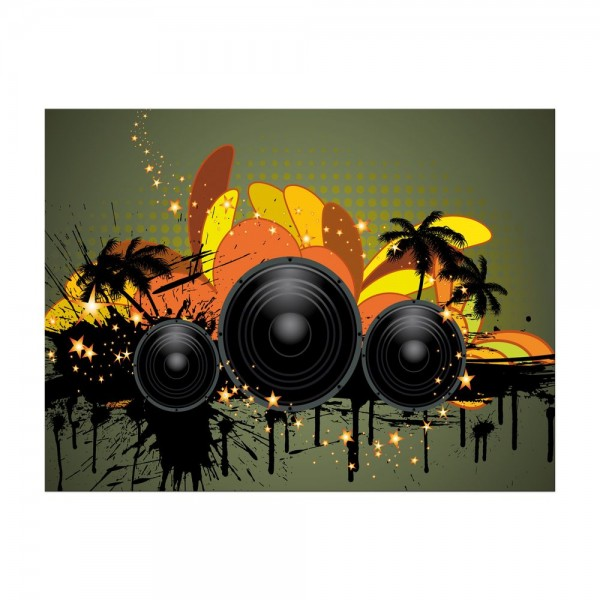 Leinwandbild - Musical Grunge Background II