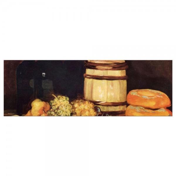 Leinwandbild - Francisco de Goya - Stillleben mit Früchten, Flaschen, Broten