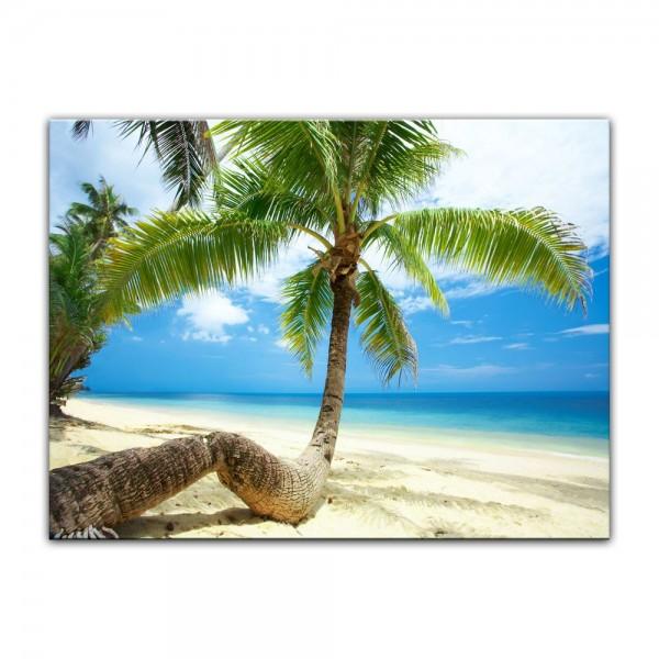 Leinwandbild - Strand im Paradies