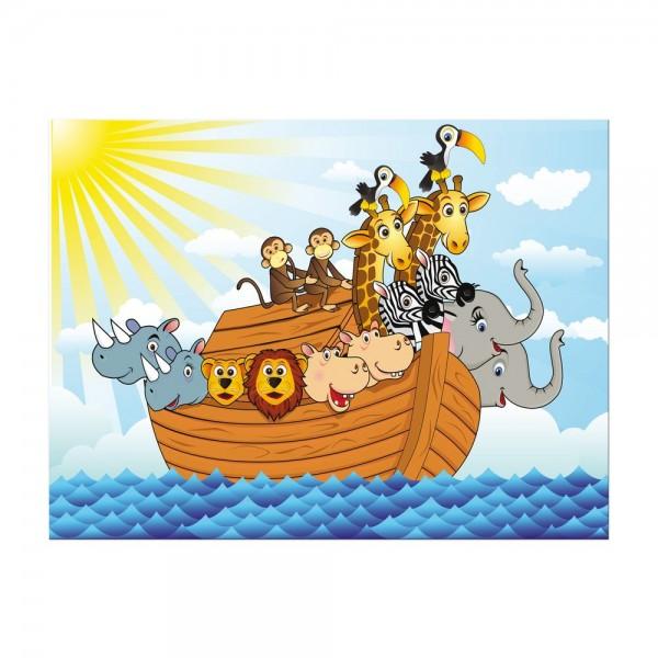 Leinwandbild - Kinderbild - Arche Noah Cartoon