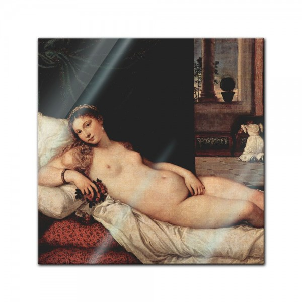 Glasbild Tizian - Alte Meister - Venus von Urbino