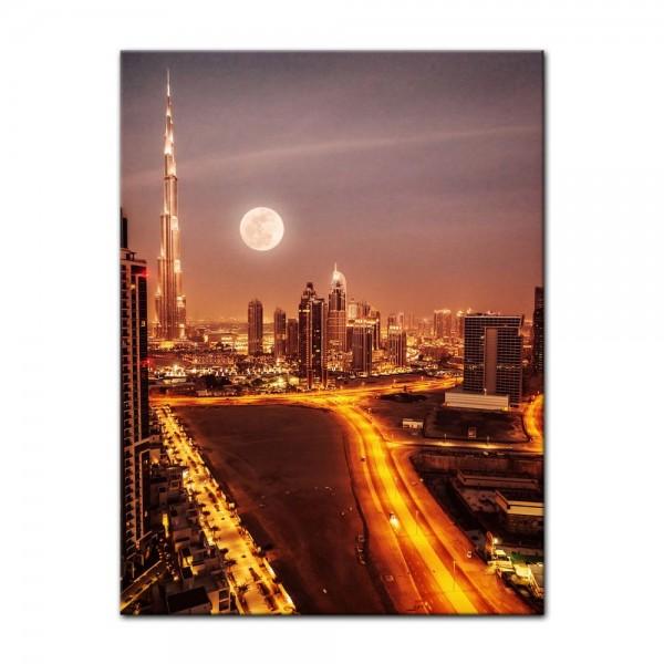 Leinwandbild - Dubai im Mondlicht
