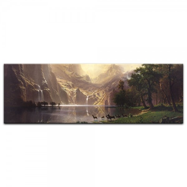 Leinwandbild - Albert Bierstadt - Among the Sierra Nevada Mountains - Zwischen den Sierra Nevada Mou