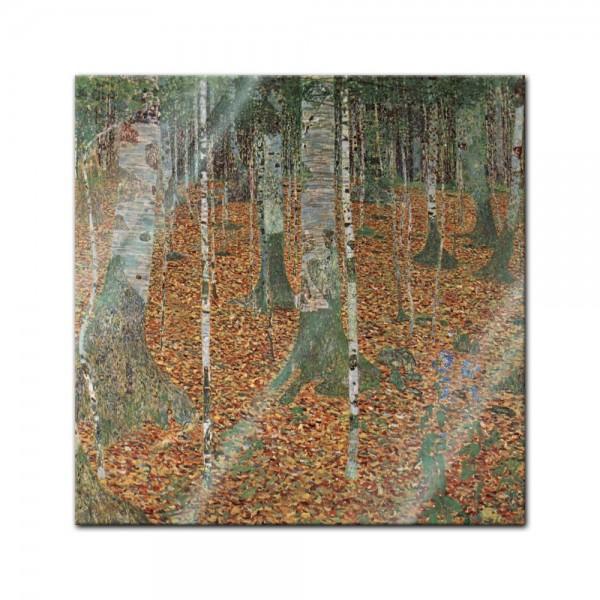 Glasbild Gustav Klimt - Alte Meister - Birkenwald