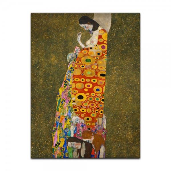 Leinwandbild - Gustav Klimt - Die Hoffnung II