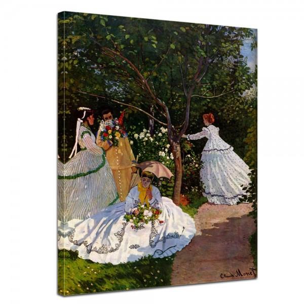 SALE Leinwandbild - Claude Monet Frauen im Garten - 40x50 cm