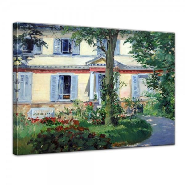 SALE Leinwandbild - Édouard Manet Landhaus in Rueil - 60x50 cm