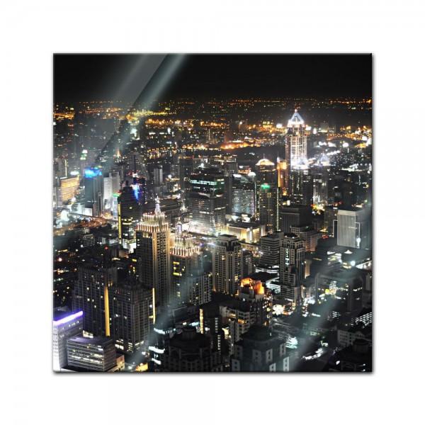 Glasbild - Bangkok at night