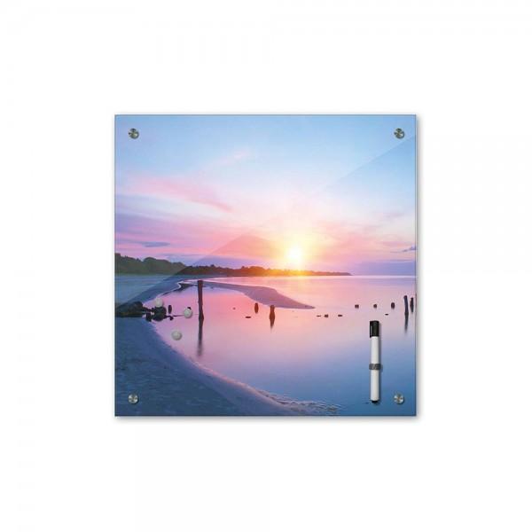 Memoboard - Landschaft - Alter Steg im Sonnenuntergang - 40x40 cm