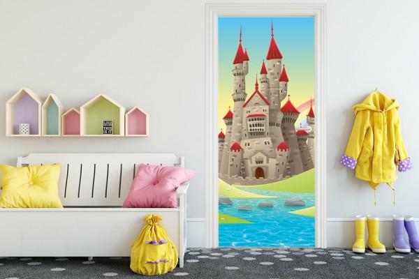 Türaufkleber - Kinderbild Burg