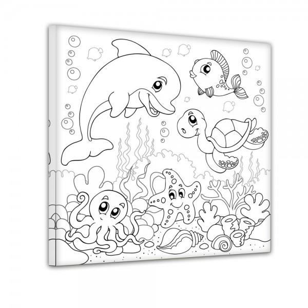 Unterwassertiere - Ausmalbild