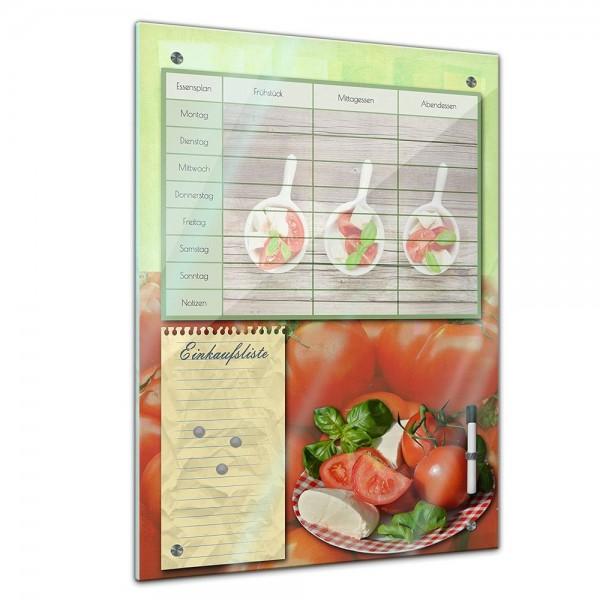 Memoboard - Familien Essensplaner - Tomate und Mozarella