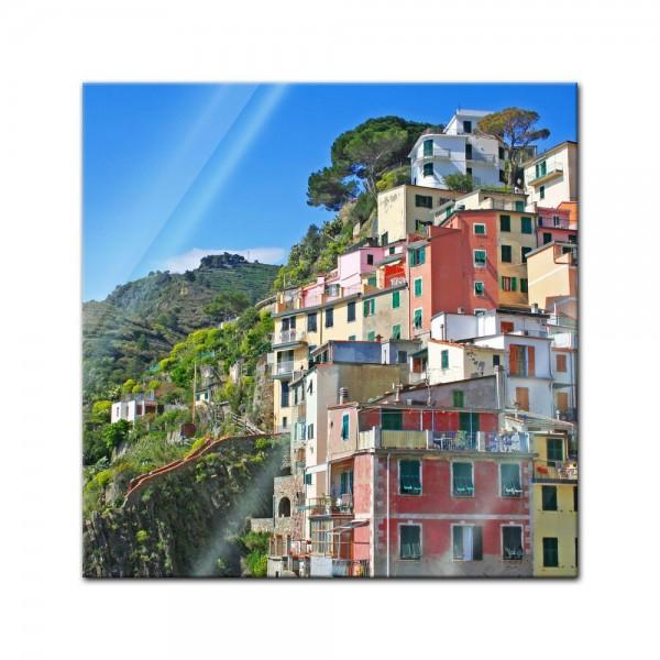 Glasbild - Riomaggiore Fischerdorf Cinque Terre II