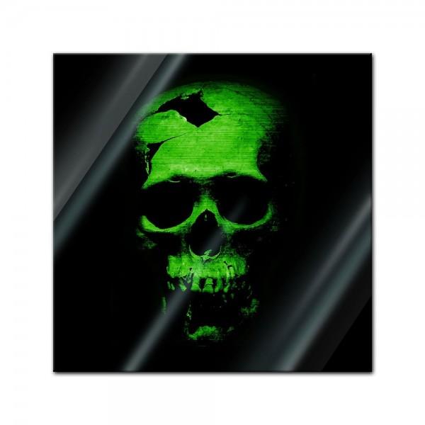 Glasbild - Grüner Schädel